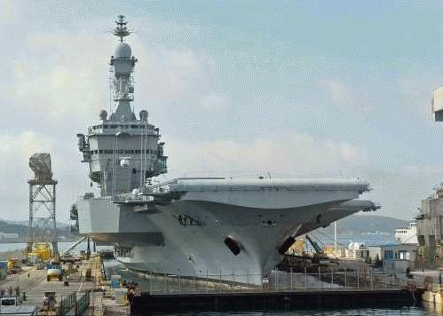 France's Charles de Gaulle aircraft carrier