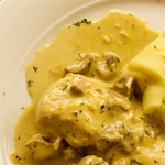 Veal Escalopes with Chives and Chanterelle Sauce